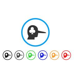 Gambling jerk icon vector