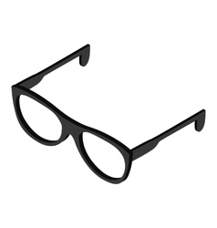 Glasses isometric 3d icon vector