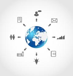 Global internet communication set business vector