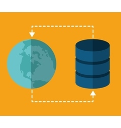 Global sphere data center web hosting vector
