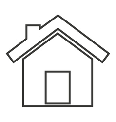 house exterior isolated icon design vector image