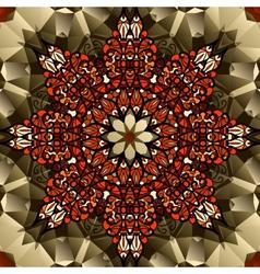 Kaleidoscope design mandala lotus flower symbol vector