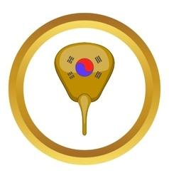 Korean hand fan icon vector