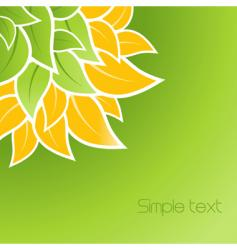 leaves corner design vector image