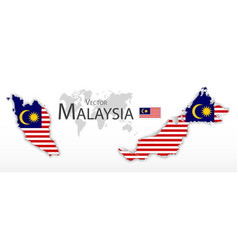 Malaysia flag and map vector