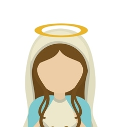 mary holy family design vector image vector image