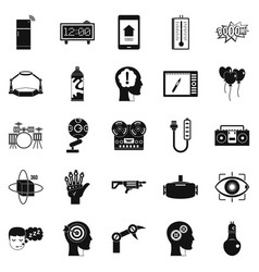 Musical talent icons set simple style vector