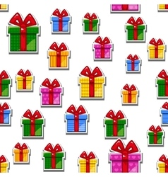 Pattern Flat gift box seamless background vector image