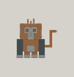 Pixel gorilla vector