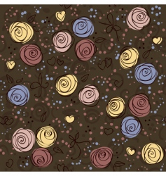 seamless floral dark vector background vector image vector image