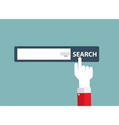 Search Flat Design Concept vector image