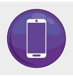 Smartphone button icon social media design vector