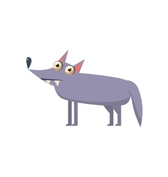 Wolf Simplified Cute vector image