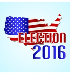 Election 2016 in the united states of america with vector
