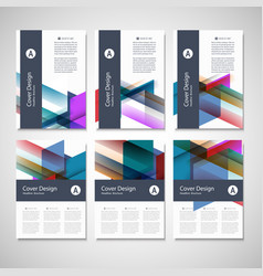 brochure flyer design layout template size vector image