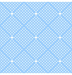 Seamless checked blue pattern vector image