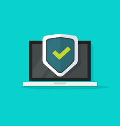 Computer protection icon isolated flat vector