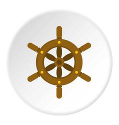 Ship wheel icon circle vector