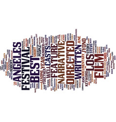 Los angeles film festival text background word vector