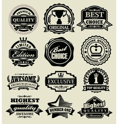 Premium quality badges vector