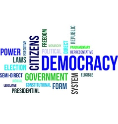 Word cloud democracy vector