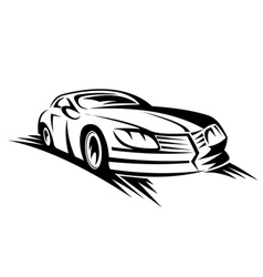 Sporting car vector
