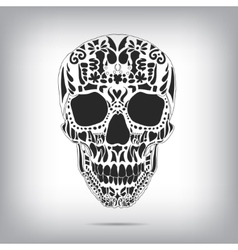 Ornamental scull as abstract floral vector