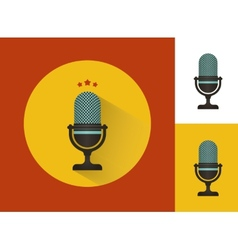 Karaoke microphones set vector