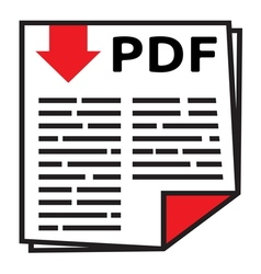 PDF icon1 vector image