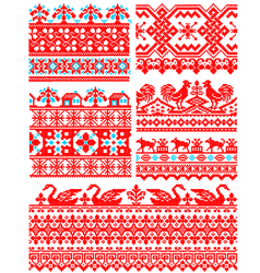 Cross stitch pattern 1 vector