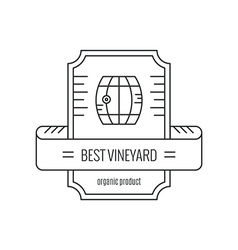 Hipster wine logo vector