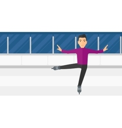 Male figure skater vector