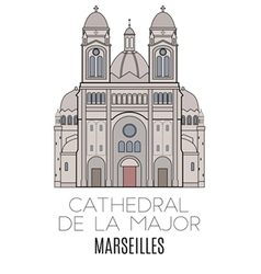 Cathedral de la major marseilles vector