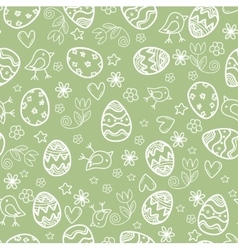 Doodle easter pattern vector image