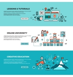 Online education on-line training courses staff vector