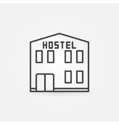 Hostel building icon vector