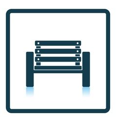 Tennis player bench icon vector image