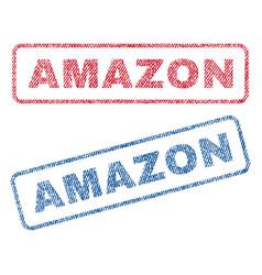 Amazon textile stamps vector