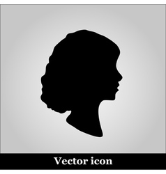 Black and White of a Cameo vector image vector image