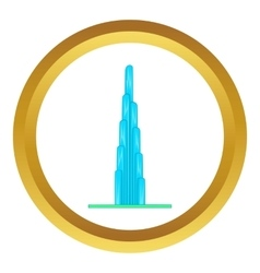 Burj khalifa icon vector