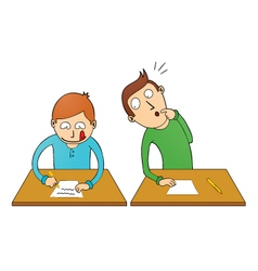 Cheating student vector image vector image
