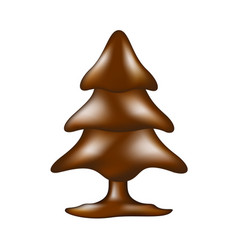 Chocolate tree in dark brown design vector