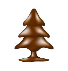 chocolate tree in dark brown design vector image