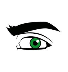Comic eye look optical style vector