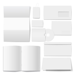 Corporate identity Templates Selected blank vector image