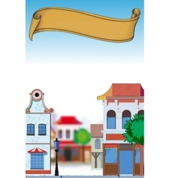 Day in small town vector image vector image