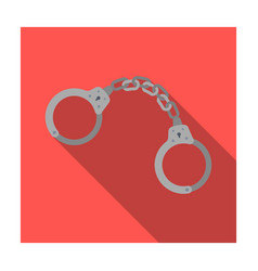 handcuffs icon in flat style isolated on white vector image vector image