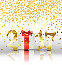 Happy New Year background with gift vector image vector image