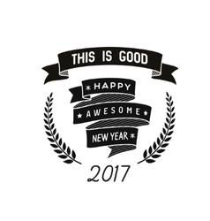 happy new year badge vector image vector image