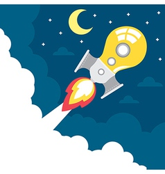 idea rocket launch vector image vector image